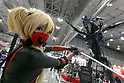 A cosplayer poses for a photograph during the Tokyo Comic Con 2017 at Makuhari Messe International Exhibition Hall on December 1, 2017, Tokyo, Japan. This is the second year that San Diego Comic-Con International held the event in Japan. Tokyo Comic Con runs from December 1 to 3. (Photo by Rodrigo Reyes Marin/AFLO)