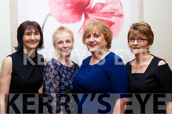 L-R Catherine O'Halloran, Marie O'Connor, Mary Cotter and Margaret Curtin at Eileen Walshs retirement party in the Ballyroe Heights hotel, Tralee last Saturday night.