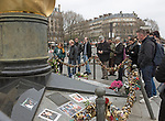 20.03.2017; Paris, FRANCE: PRINCESS DIANA SHRINE PARIS 20 YEARS ON<br />The Flame of Liberty that has become an unofficial memorial to Princess Diana above the Pont D'Alma tunnel in which Diana's Mercedes crashed into in August 1997, killing her, her lover Dodi Al Fayed, and their driver Henri Paul.<br />A constant stream of people throughout the day, make the trip to The Flame of Liberty to look at the messages, photographs and view the tunnel. Lovelocks now ring the The Flame of Liberty, while flowers are left on a daily basis.<br />The Duke and Duchess of Cambridge visited &ldquo;Les Voisins in Action&rdquo; event 1 kilometre away at the Trocodero posing in front of the Tour Eiffel, that can be seen from The Flame of Liberty. But it is not known if there visited or drove through the Pont D'Alma tunnel.<br />Despite promises of a memorial for the late Princess, 20 years on there are still no plans for it.<br />Mandatory Photo Credit: &copy;Francis Dias/NEWSPIX INTERNATIONAL<br /><br />IMMEDIATE CONFIRMATION OF USAGE REQUIRED:<br />Newspix International, 31 Chinnery Hill, Bishop's Stortford, ENGLAND CM23 3PS<br />Tel:+441279 324672  ; Fax: +441279656877<br />Mobile:  07775681153<br />e-mail: info@newspixinternational.co.uk<br />Usage Implies Acceptance of OUr Terms &amp; Conditions<br />Please refer to usage terms. All Fees Payable To Newspix International