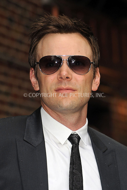 WWW.ACEPIXS.COM . . . . . ....July 7 2009, New York City....Television personality Joel McHale made an appearance at the 'Late Show with David Letterman' at the Ed Sullivan Theatre on July 7 2009 in New York City....Please byline: KRISTIN CALLAHAN - ACEPIXS.COM.. . . . . . ..Ace Pictures, Inc:  ..tel: (212) 243 8787 or (646) 769 0430..e-mail: info@acepixs.com..web: http://www.acepixs.com