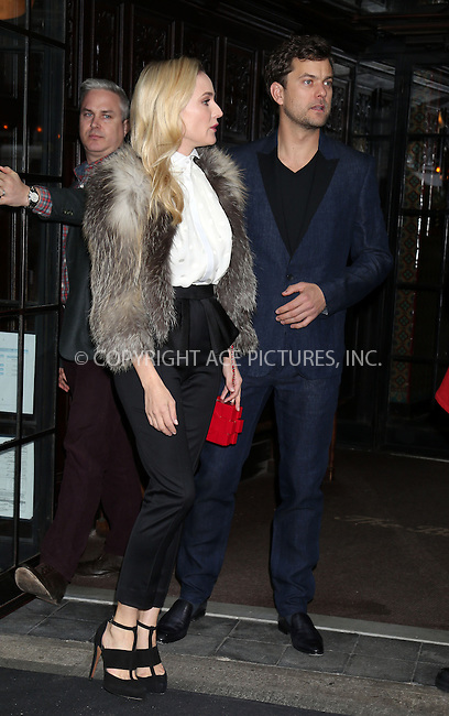 WWW.ACEPIXS.COM....March 28 2013, New York City....Diane Kruger and Joshua Jackson leave a Soho hotel on March 28 2013 in New York City......By Line: Philip Vaughan/ACE Pictures....ACE Pictures, Inc...tel: 646 769 0430..Email: info@acepixs.com..www.acepixs.com