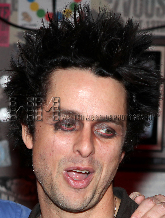 """Billy Joe Armstrong (Green Day).with the Cast & Crew celebrating their 300th Performance of  """"American Idiot"""" at the St. James Theatre in New York City."""