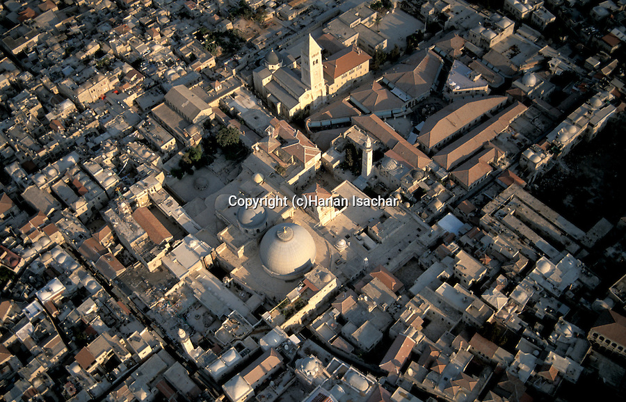Israel, Jerusalem Old City, the Church of the Holy Sepulchre and the Church of the Redeemer at the Christian Quarter