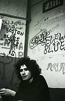 Tim Buckley backstage at the Unicorn Coffee House in Boston, 1968.  ** NO TABLOIDS / SKIN MAGS **<br /> &copy; RTSimon / MediaPunch