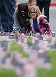Nearly 100 people participate in the third annual Veterans Suicide Awareness March in Carson City, Nev., on Saturday, May 6, 2017. The event, put on by  Western Nevada College Student Veterans Club and the Veterans Resource Center, raises awareness of the more than 8,000 veteran suicides each year in the U.S.<br /> Photo by Cathleen Allison/Nevada Photo Source