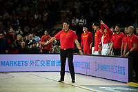 China&rsquo;s Coach Nan Li in action during the FIBA World Cup Basketball Qualifier - NZ Tall Blacks v China at Spark Arena, Auckland, New Zealand on Sunday 1 July 2018.<br /> Photo by Masanori Udagawa. <br /> www.photowellington.photoshelter.com