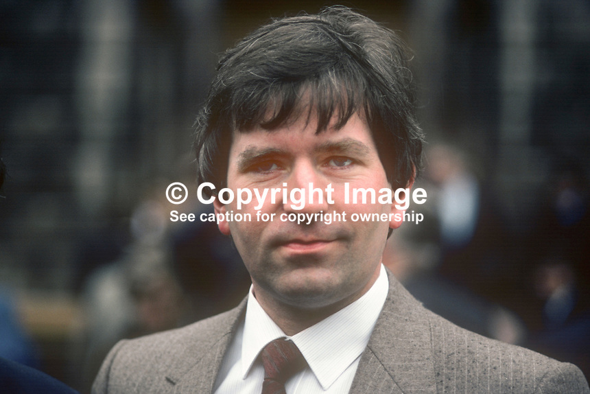 Charlie McCreevy, TD, Fianna Fail, Rep of Ireland, 198203043CMC..Copyright Image from Victor Patterson, 54 Dorchester Park, Belfast, UK, BT9 6RJ.  Tel: +44 28 90661296  Mobile: +44 7802 353836.Email: victorpatterson@me.com Email: victorpatterson@gmail.com..For my Terms and Conditions of Use go to http://www.victorpatterson.com/ and click on Terms & Conditions