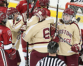 Dana Trivigno (BC - 8) (Skarupa, Johnson), Emily Field (BC - 15) - The Boston College Eagles defeated the visiting Harvard University Crimson 3-1 in their NCAA quarterfinal matchup on Saturday, March 16, 2013, at Kelley Rink in Conte Forum in Chestnut Hill, Massachusetts.