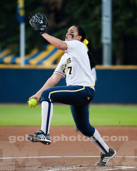 University of Michigan softball 5-0 victory over Western Michigan during the NCAA Ann Arbor Regional at Alumni Field in Ann Arbor, MI, on May 20, 2011.
