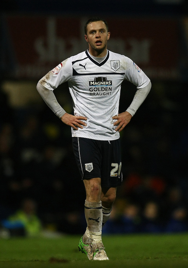 Dejected Preston North End's Chris Beardsley ..Football - npower Football League Division One - Portsmouth v Preston North End - Saturday 15th December 2012 - Fratton Park - Portsmouth..