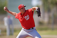 Washington Nationals pitcher Sam Held (60) delivers a pitch during a minor league Spring Training game against the St. Louis Cardinals on March 27, 2017 at the Roger Dean Stadium Complex in Jupiter, Florida.  (Mike Janes/Four Seam Images)