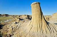 Hoodo in badlands , Avonlea, Saskatchewan, Canada