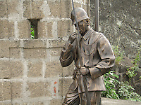 bronze sculptures of spanish soldiers,  in Manila's Intramuros<br /> Photo : (c) by Pierre Roussel/ IMAGES DISTRIBUTION