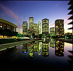 Music Center and Downtown Los Angeles Skyline from DWP
