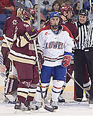 Cory Schneider, Dan Bertram, Jeremy Hall, Tim Filangieri - The Boston College Eagles defeated the University of Massachusetts-Lowell River Hawks 4-3 in overtime on Saturday, January 28, 2006, at the Paul E. Tsongas Arena in Lowell, Massachusetts.