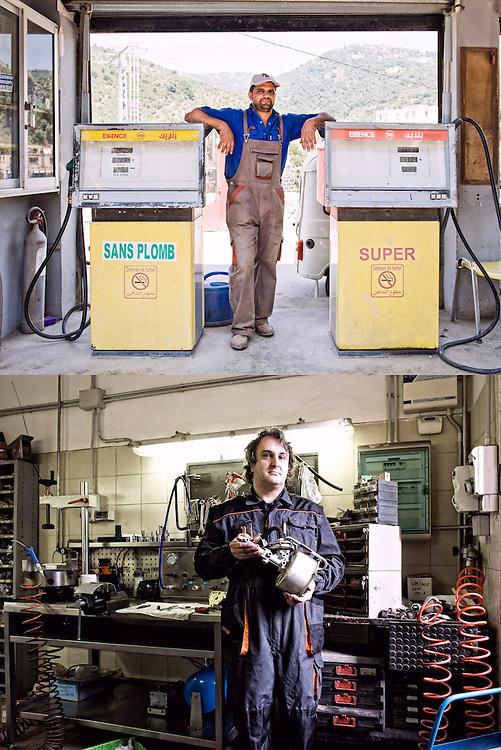 MOTORI A BENZINA<br /> Hakim Ould Salah, benzinaio<br /> Elioenai Barbin, meccanico<br /> <br /> Gira, gira, gira<br /> Ma senza benzina<br /> sans plomb o super<br /> il motore non va,<br /> non può funzionare<br /> <br /> E gira il mondo gira<br /> un turbine la vita<br /> fili spessi attorcigliati<br /> Gira gira gira<br /> ma credete a me,<br /> senza un motore <br /> tra le mani <br /> vita non c'é.