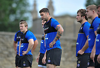 Matt Banahan of Bath Rugby looks on. Bath Rugby training session on August 4, 2015 at Farleigh House in Bath, England. Photo by: Patrick Khachfe / Onside Images