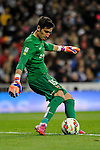 Levante UD´s goalkeeper Diego Marino Villar during 2014-15 La Liga match between Real Madrid and Levante UD at Santiago Bernabeu stadium in Madrid, Spain. March 15, 2015. (ALTERPHOTOS/Luis Fernandez)