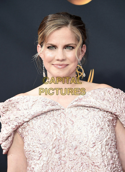 LOS ANGELES, CA - SEPTEMBER 18: Anna Chlumsky arrives at the 68th Emmy Awards at the Microsoft Theater on  September 18, 2016, in Los Angeles, California. <br /> CAP/MPI99<br /> &copy;MPI99/Capital Pictures