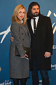 London, UK. 19 January 2016. Katherine Jenkins with husband Andrew Levitas. Celebrities arrive on the red carpet for the London premiere of Amaluna, the latest show of Cirque du Soleil, at the Royal Albert Hall.
