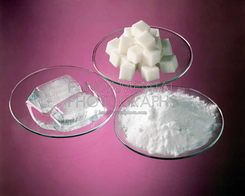 PURE SUBSTANCES HAVE DIFFERENT PROPERTIES<br /> Melting Ice Cube, Sugar & Baking Soda<br /> Substances (also called 'pure substances') can be composed of one type of matter (elements) or more than one (compounds). The different types of matter in a substance cannot be separated by physical means, but only by chemical changes.