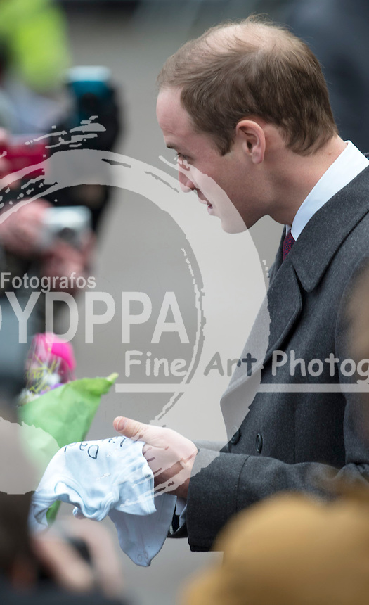 Duke of Cambridge makes official visit to Peterborough City hospital, Peterborough, England, November 28, 2012. Photo by i-Images / DyD Fotografos