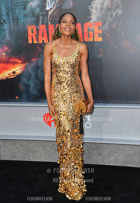Naomie Harris at the premiere for &quot;Rampage&quot; at the Microsoft Theatre, Los Angeles, USA 04 April 2018<br /> Picture: Paul Smith/Featureflash/SilverHub 0208 004 5359 sales@silverhubmedia.com