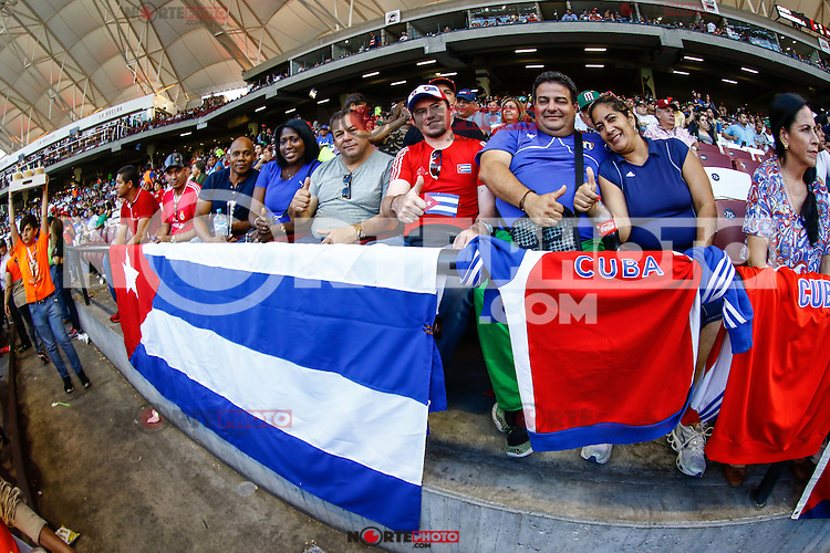 Aficionados cubanos, durante el partido de beisbol de la Serie del Caribe entre Alazanes de Granma Cuba vs las &Aacute;guilas del Zulia Venezuela en el Nuevo Estadio de los Tomateros en Culiacan, Mexico, Sabado 4 Feb 2017. Foto: Luis Gutierrez/NortePhoto.com.    ****<br /> <br /> Actions, during the Caribbean Series baseball match between Granma Cuba vs Alajuelas de Zulia Venezuela at the New Tomateros Stadium in Culiacan, Mexico, Saturday 4 Feb 2017. Photo: Luis Gutierrez / NortePhoto.com