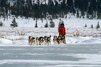 Susan Butcher flats near Shaktoolik AK '90 Iditarod winter scenic