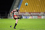 Blair Feeney kicks a penalty.Counties Manukau Steelers vs Bay of Plenty Steamers warm up game played at Mt Smart Stadium on 14th of July 2006. Counties Manukau won 25 - 20.