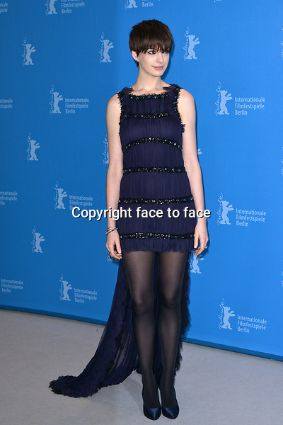 """Anne Hathaway attending """"Les Miserables"""" Photocall during the 63rd Berlinale Film Festival at Grand Hyatt Hotel Berlin, Germany, 09.02.2013...Credit: Michael Timm/face to face"""