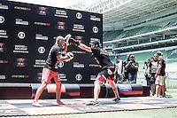 """SAO PAULO, SP, 18.12.2014 - UFC FIGHT NIGHT BARUERI / TREINO ABERTO. O lutador de MMA, Antonio Carlos """"Cara de Sapato"""",  durante treino aberto no estádio Allianz Parque, na tarde desta quinta-feira (18). Os treinos abertos antecedem a luta que acontece em Barueri no próximo sábado e fecha o calendário de lutas do UFC em 2014. (Foto:  Adriana Spaca / Brazil Photo Press)"""