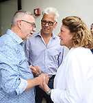 Sam Rudy, Steve Bakunas and Linda Lavin attend the Retirement Celebration for Sam Rudy at Rosie's Theater Kids on July 17, 2019 in New York City.