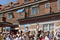 Neue Studenten feiern den Beginn des Studiums,  Kristianstad, Provinz Skåne (Schonen), Schweden, Europa<br /> New students celebrate the beginning of their studies in Kristianstad, Province Skåne, Sweden