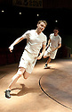 Chariots of Fire adapted from the film by Mike Bartlett ,directed by Edward Hall. With Jack Lowden as Eric Liddell [ON LEFT].  Opens at The Hampstead Theatre  on 22/5/12 .CREDIT Geraint Lewis