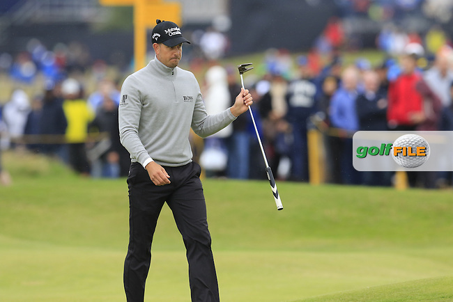 Henrik Stenson (SWE) walks onto the 2nd green during Saturday's Round 3 of the 145th Open Championship held at Royal Troon Golf Club, Troon, Ayreshire, Scotland. 16th July 2016.<br /> Picture: Eoin Clarke | Golffile<br /> <br /> <br /> All photos usage must carry mandatory copyright credit (&copy; Golffile | Eoin Clarke)