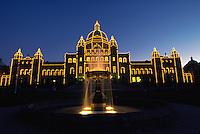 British Columbia's Parliament building at night, Canada, Victoria, British Columbia