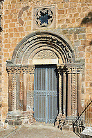 Romanesque side portal of the Basilica Church of Santa Maria Maggiore, Tuscania