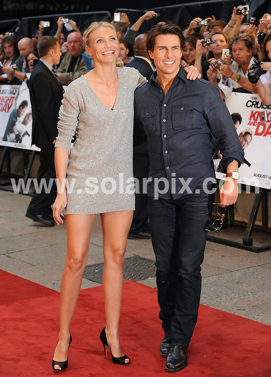 **ALL ROUND PICTURES FROM SOLARPIX.COM**.**WORLDWIDE SYNDICATION RIGHTS**.UK Premiere of Knight and Day. Held at the Odeon, Leicester Square, London, UK. 22 July 2010..This pic: Tom Cruise and Cameron Diaz..JOB REF: 11740 SSD     DATE: 22_07_2010.**MUST CREDIT SOLARPIX.COM OR DOUBLE FEE WILL BE CHARGED**.**MUST NOTIFY SOLARPIX OF ONLINE USAGE**.**CALL US ON: +34 952 811 768 or LOW RATE FROM UK 0844 617 7637**