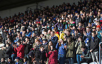 Raith Rovers v St Johnstone....08.03.14    Scottish Cup Quarter Final<br /> Saints fans applaud<br /> Picture by Graeme Hart.<br /> Copyright Perthshire Picture Agency<br /> Tel: 01738 623350  Mobile: 07990 594431