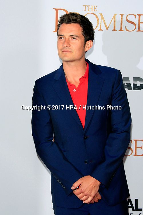 """LOS ANGELES - APR 12:  Orlando Bloom at the """"The Promise"""" Premiere at the TCL Chinese Theater IMAX on April 12, 2017 in Los Angeles, CA"""