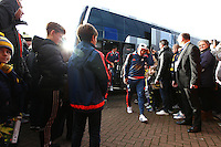 Jefferson Montero of Swansea   arriving before  the Emirates FA Cup 3rd Round between Oxford United v Swansea     played at Kassam Stadium  on 10th January 2016 in Oxford