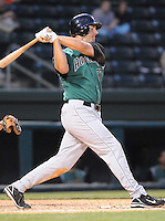 May 11, 2009: Mike Loberg of the Augusta GreenJackets, Class A affiliate of the San Francisco Giants, in a game against the Greenville Drive at Fluor Field at the West End in Greenville, S.C. Photo by: Tom Priddy/Four Seam Images