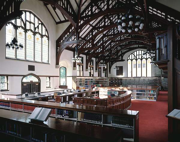 Interior view of science library at Mt Holyoke College in South Hadley, MA.