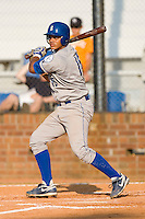 Fernando Cruz #16 of the Burlington Royals follows through on his swing versus the Johnson City Cardinals at Howard Johnson Stadium June 27, 2009 in Johnson City, Tennessee. (Photo by Brian Westerholt / Four Seam Images)