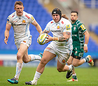Exeter Chiefs' Harry Williams in action during todays match<br /> <br /> Photographer Bob Bradford/CameraSport<br /> <br /> Aviva Premiership Round 20 - London Irish v Exeter Chiefs - Sunday 15th April 2018 - Madejski Stadium - Reading<br /> <br /> World Copyright &copy; 2018 CameraSport. All rights reserved. 43 Linden Ave. Countesthorpe. Leicester. England. LE8 5PG - Tel: +44 (0) 116 277 4147 - admin@camerasport.com - www.camerasport.com