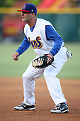 April 17, 2009:  First baseman Andrew Jenkins of the Jacksonville Suns, Southern League Class-AA affiliate of the Florida Marlins, during a game at the Baseball Grounds of Jacksonville in Jacksonville, FL.  Photo by:  Mike Janes/Four Seam Images