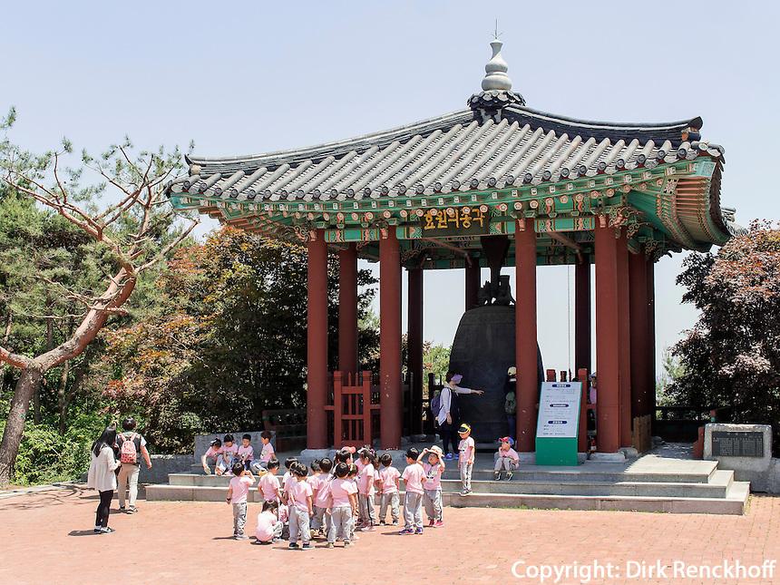 Glocke Hyowon der Festung-Hwaseong von Suwon, Provinz Gyeonggi-do, S&uuml;dkorea, Asien, Unesco-Weltkulturerbe<br /> Bell Hyowon of fortress Hwaseong, Suwon, Province Gyeonggi-do, South Korea Asia, UNESCO World-heritage