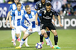 CD Leganes' David Timor (l) and Real Madrid's Lucas Vazquez during La Liga match. April 5,2017. (ALTERPHOTOS/Acero)