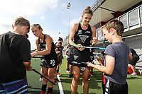 Fans signing session during the Pro League Hockey match between the Blacksticks Women and Belgium, National Hockey Arena, Auckland, New Zealand, Sunday 2 February 2020. Photo: Simon Watts/www.bwmedia.co.nz